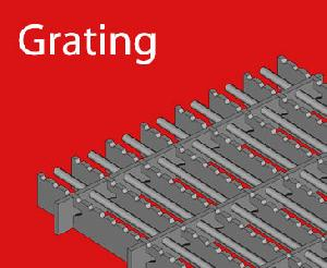 Grating for refractories